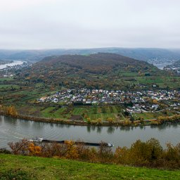 River that took a magnificent U turn. Boppard Germany.